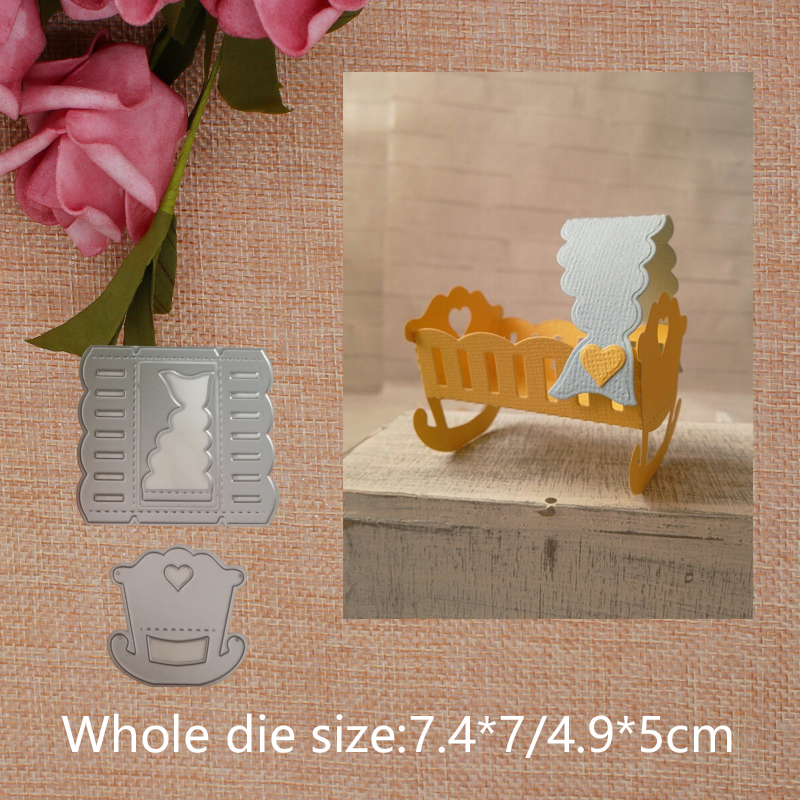 DIY Crib  Cutting Dies Scrapbooking Carbon Steel Die Decor Cards Embossing Stencils Handicraft Toys