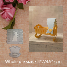 DIY Crib  Cutting Dies Scrapbooking Carbon Steel Die Decor  Cards Embossing Dies Stencils Handicraft Toys diy embossed carbon steel cutting die