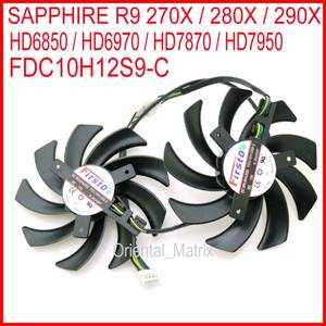 Free Shipping 2pcs/lot FDC10H12S9-C 86mm For Sapphire R9 270X 280X HD6970 HD7870 HD7950 HD7970 Graphics Card Cooling Fan