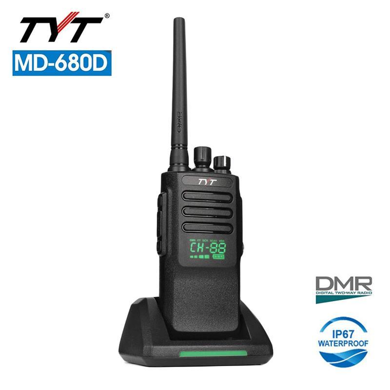 TYT MD-680D LED Display DMR Digital/Analog Two-Way Radio High Power 10/5W IP67 Waterproof Walkie Talkie Transceiver Ham Radios