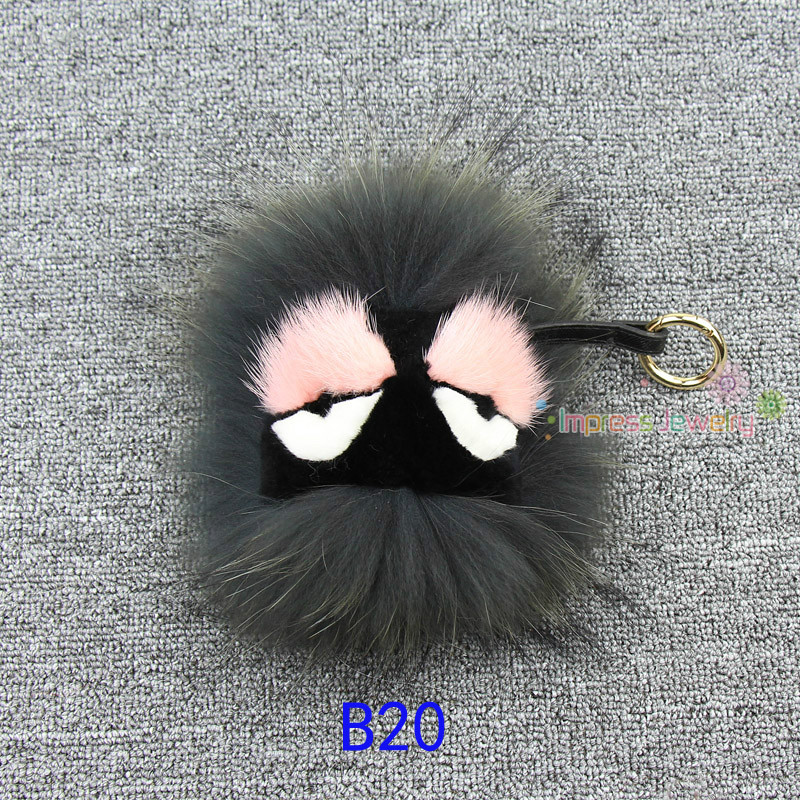 Fluffy Genuine Real Fur Pom Pom Keychain Monster Fur Keyring Key Chain Women Bag Charm Bag Accessories цены онлайн