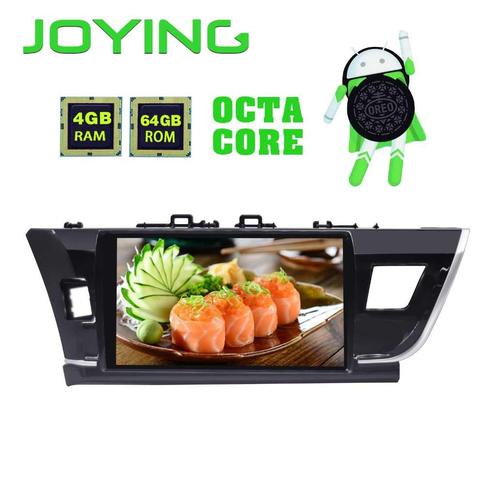 JOYING 10.1'' Screen Stereo Multimedia Player GPS Navigator 4GB RAM 64GB ROM Tape Recorder for Toyota Corolla 2014 2015 2016
