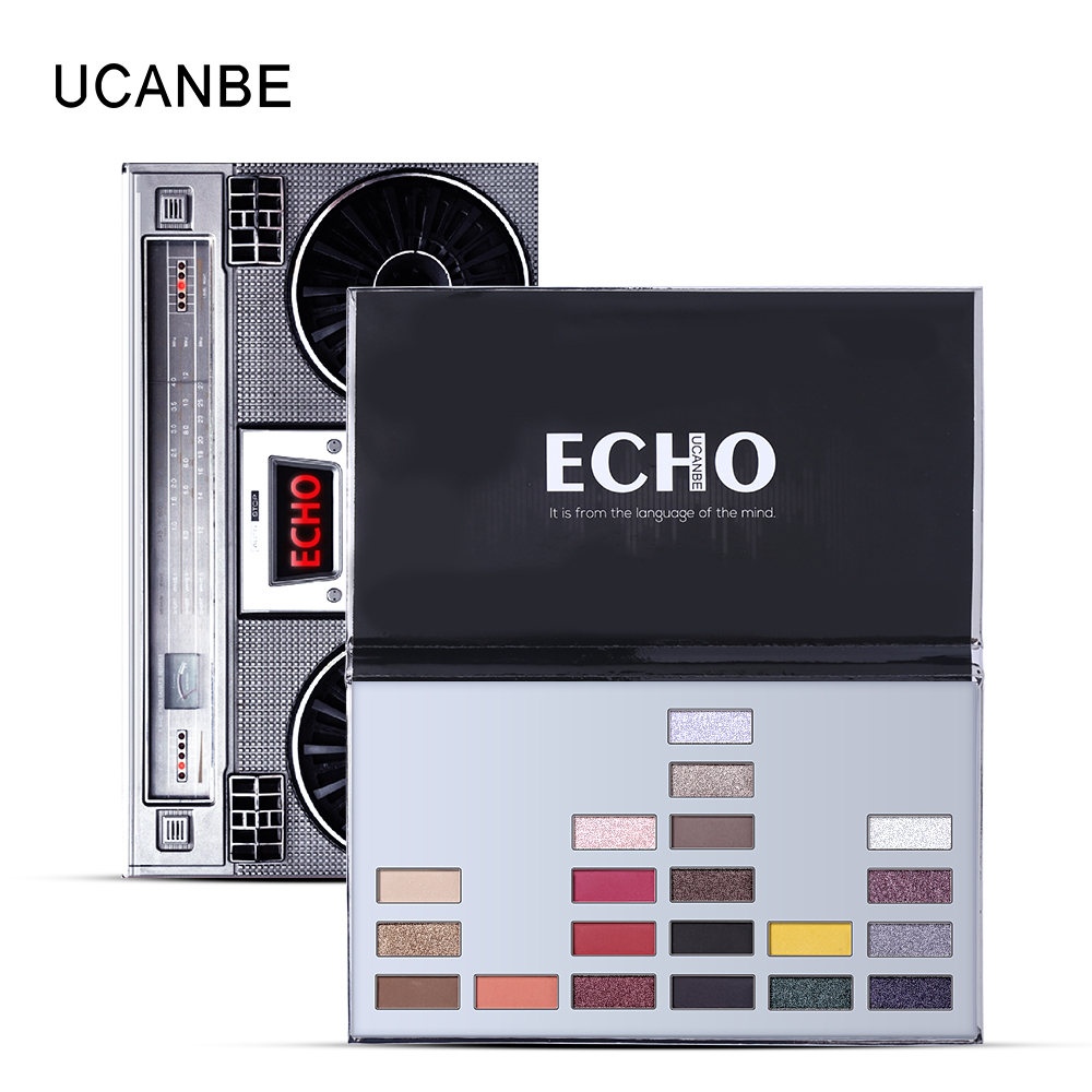 UCANBE Echo Eye Shadow 20 Color Soft Matte Eyeshadow Palette Long Lasting Natural Pigment Eye Makeup Shimmer Metal Boombox Style для глаз victoria shu doll s style eyeshadow palette 53 цвет 53 variant hex name 909493