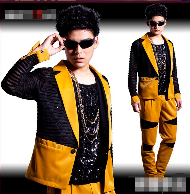 XS-5XL!!!  2018  Male DJ Stage Outfit Fashionable Nightclub Stage Shelf Dance Costumes  The Singer's Clothing