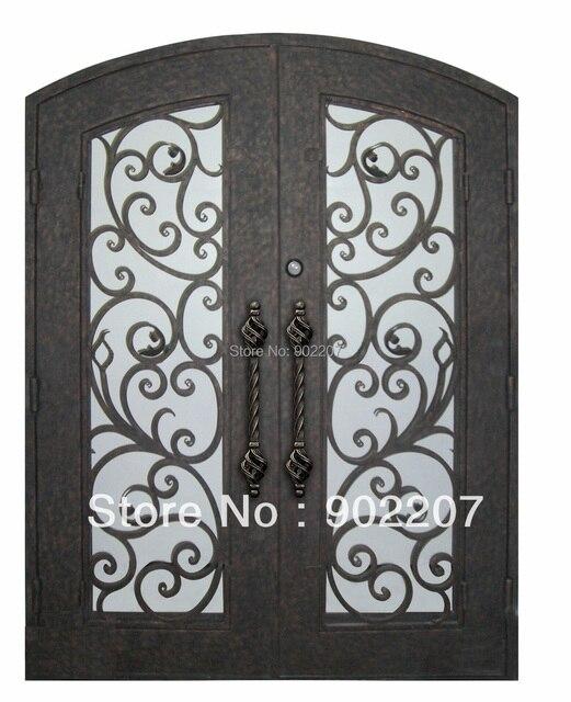 Shanghai Henchuang Custom Design Boutique Wrought Iron Entry Door