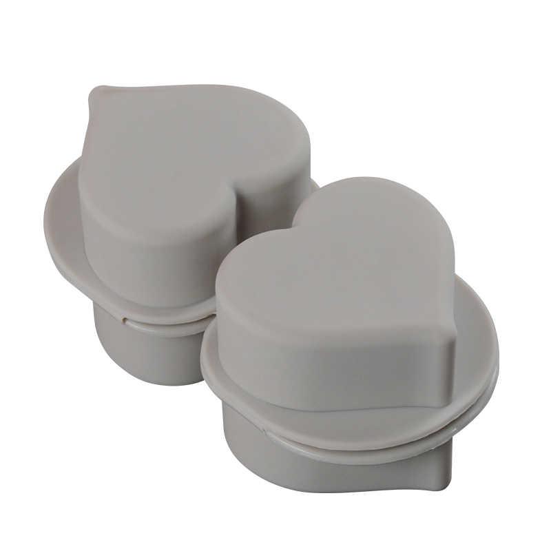 FUNBAKY 3d силиконовые формы для мыла сердце ручной работы для мыла изготовление 4 буханки формы кубик DIY Плесень ручной работы инструмент для украшения торта лоток