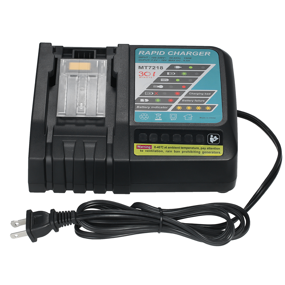 6.5A Rapid Li-ion Battery Charger Replacement for Makita power tool Screwdriver DC18RC/18RA BL183 /1815 /1840 /1850 14.4V-18V 18v 6000mah rechargeable battery built in sony 18650 vtc6 li ion batteries replacement power tool battery for makita bl1860