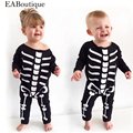 EABoutique  New Hot sale Halloween scary skull costume Cotton baby rompers long sleeve for boys girls retail