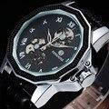 FORSINING Ripple Design de Alta Qualidade Moinho de Vento Irregular Forma Dos Homens Relógios Marca De Luxo Relógio Automático Esqueleto Relógio Saat Erkek