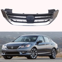 1Pcs Front Bumper Upper Grille Grill Chrome For Honda Accord 2013 2015