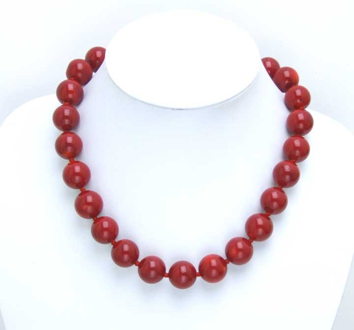 все цены на Huge 14-15MM high quality perfect Round GENUINE NATURAL Red Coral Necklace-5497 Wholesale/retail Free shipping онлайн