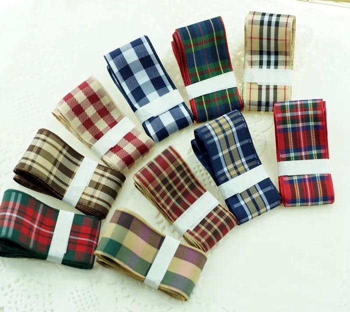 1 25mm width styles polyester scottish font b tartan b font gingham ribbon plaid ribbon bow