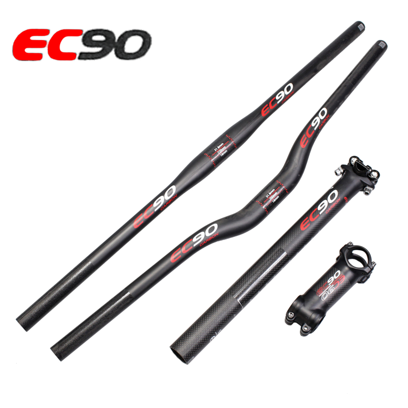 EC90 Ultra light carbon fiber mountain MTB bike the whole set bicycle handlebar bicycle seatpost stem