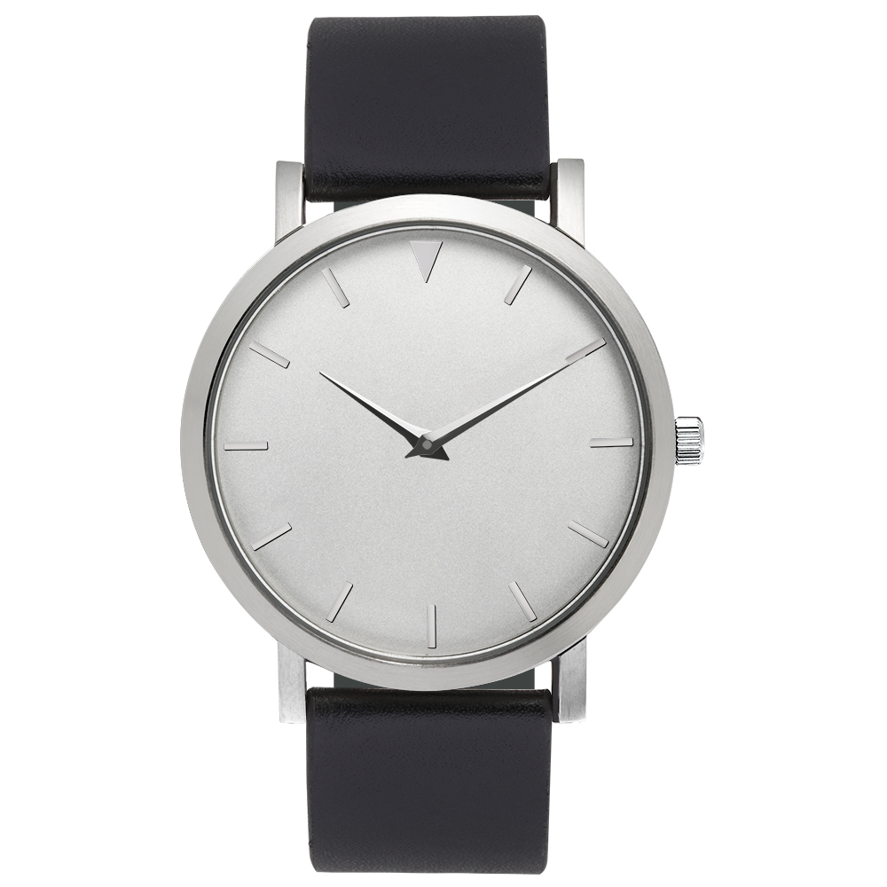 Minimalist Watches Black Movable Straps Genuine Leather