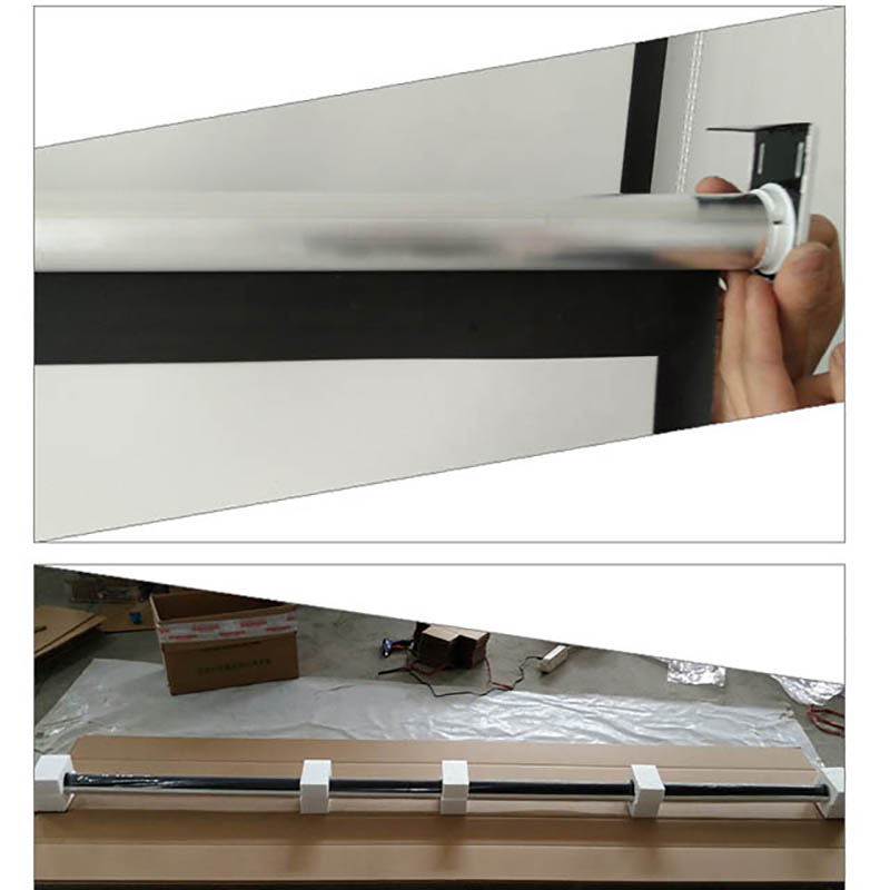 Thinyou 100 inčni 16: 9 bela tkanina prenosni talni zaslon talni - Domači avdio in video - Fotografija 6