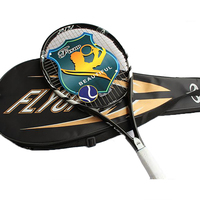 Tennis Racket Equipped With Bag Men and Women's Single Professional Tennis Racquets Carbon Fiber Top Material Tennis String