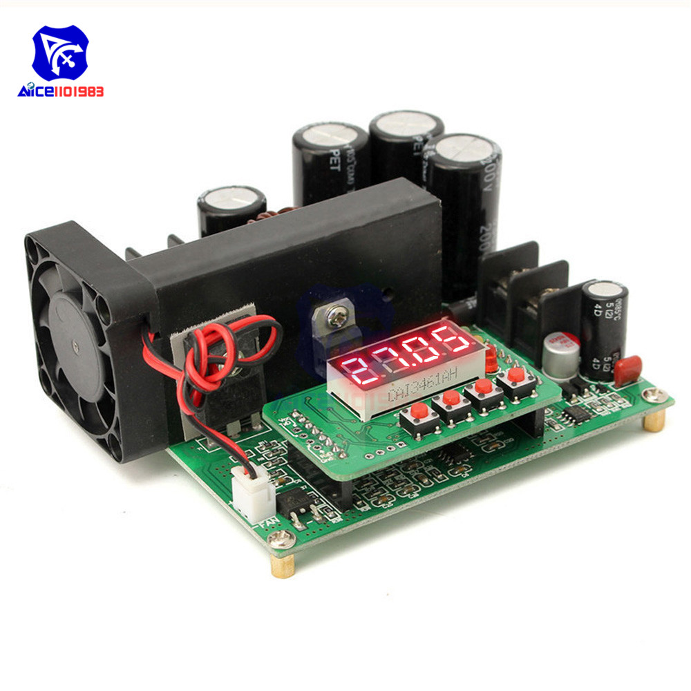 JUNTEK BST900W DC DC 8 60V to 10 120V Step Up Module LED Control Boost Converter Voltage Regulator Transformer Module-in Integrated Circuits from Electronic Components & Supplies