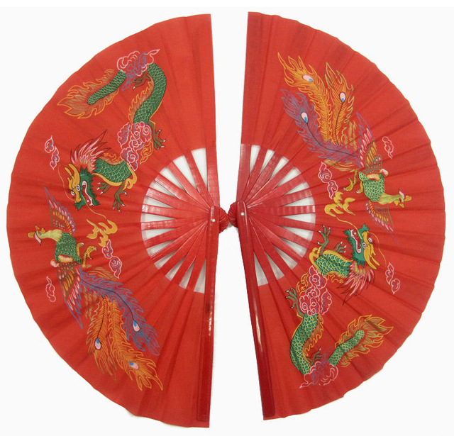 Double Gong Fu Fans - Right and Left Handed
