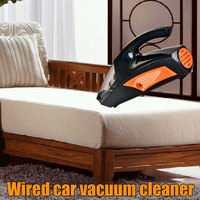 Vehemo Wired Car Vacuum Cleaner Dust Catcher Illumination Strong Suction for Auto Multifunctional High Power