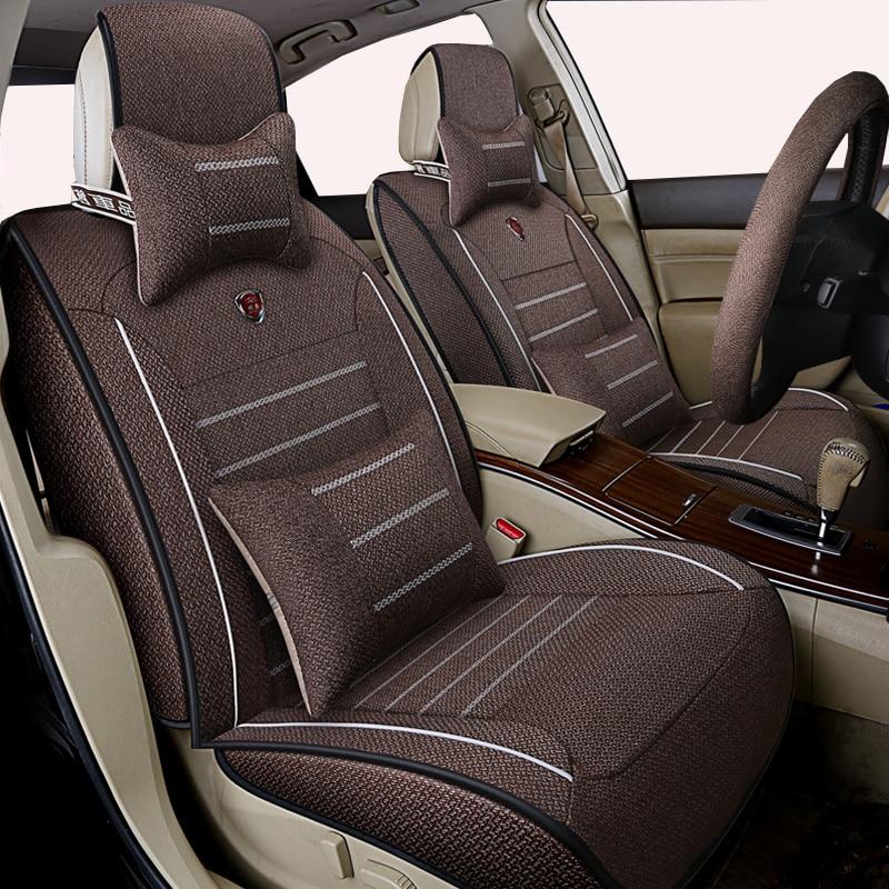 High quality linen Universal car seat cover for Volkswagen vw passat b5 b6 b7 polo 4