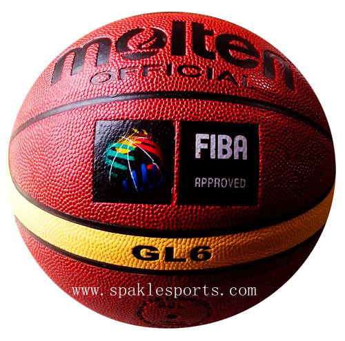 Free shipping Fake Brand Molten GL6 basketball, abrasion proof size6 Woman basketball, outdoor & indoor basketball