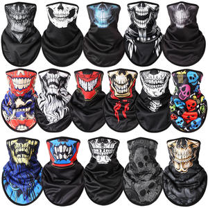 Scarf Skiing-Mask Ski Snowboard Full-Face-Mask Printed Motorcycle Sport New Warmer Skull