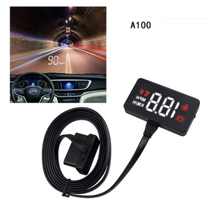 Image 1 - Car Head Up Display Overspeed Warning System Projector Windshield Auto Electronic Voltage Alarm HUD A100