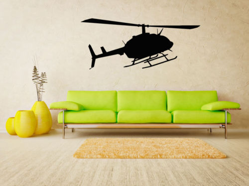 Helicopter Sticker Apache Vinyl Wall Art Air Forces Guard Wall 22X35inch