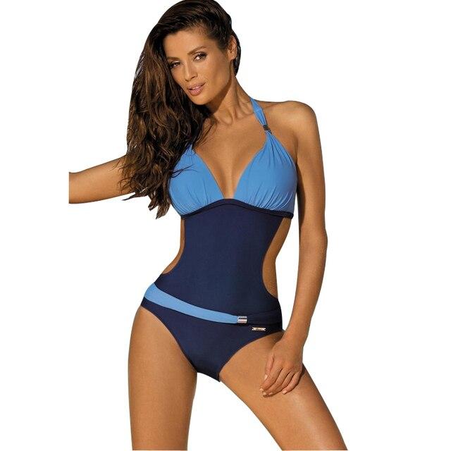 Femme Grande Taille Monokini Maillot De Bain Piscine 1 Piece Bikini Bandeau Push Up Comme Photo 4XL Large Éventail De La Vente En Ligne KzK6o