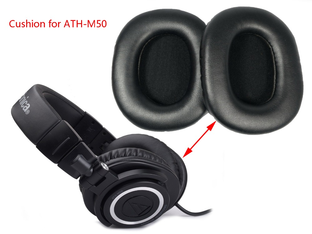 10 pair Replace cushion/Ear pad for Audio Technica ATH-M50X ATH-M50F CWH ATH-M50Xbl ATH-M50r headphones(headset) Earmuff