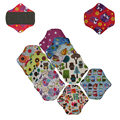 "12PCS Most Sold 7"" Waterproof Washable Reusable Cloth Menstrual Pads Bamboo Charcoal Sanitary Pads Soft Period Pads Panty Liner"