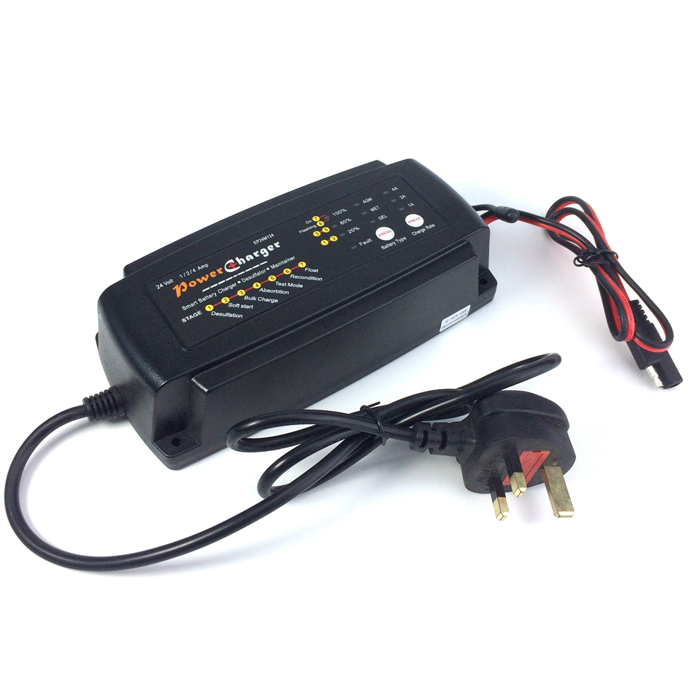 Ultrasafe 24V 1A/2A/4A 3 IN 1 7 Stage Smart Car Battery Charger ...