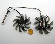 Nova Placa Gráfica GPU Cooler Fan Para ASUS GTX680 650 GTX560Ti ENGTX560 HD7850 DC2-2GD5 HD7770 EAH6950/5830/8600/9800 GTS 450/460