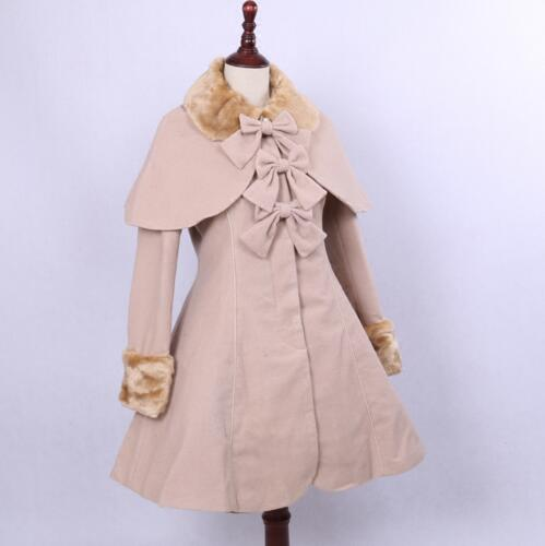 Custom Made Lolita Long Coat 2016 New Retro Style Single Breasted Coat with Shawl managing projects made simple