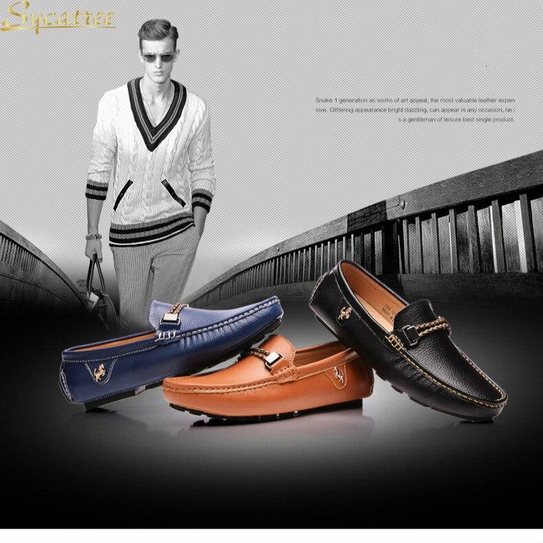 Sycatree nouvelle mode de luxe en cuir de vache Ferrari hommes chaussures décontractées Style britannique hommes mocassins sans lacet Ferrary conduite chaussures paresseux