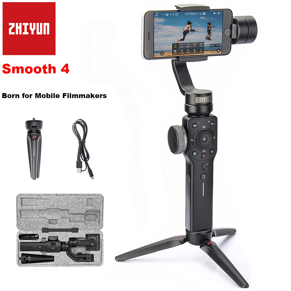Zhiyun Smooth 4 3-Axis Handheld Smartphone Gimbal Stabilizer for iPhone X 8Plus 8 7P 7 Samsung S9 S9+ S8 PK Smooth Q DJI Osmo 2 beyondsky eyemind smartphone handheld gimbal 3 axis stabilizer for iphone 8 x xiaomi samsung action camera vs zhiyun smooth q