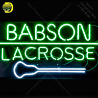 NEON SIGN For Babson Lacrosse Lamp tattoo display Real GLASS Tube Decorate Handcraft Advertise custom neon light Personalized