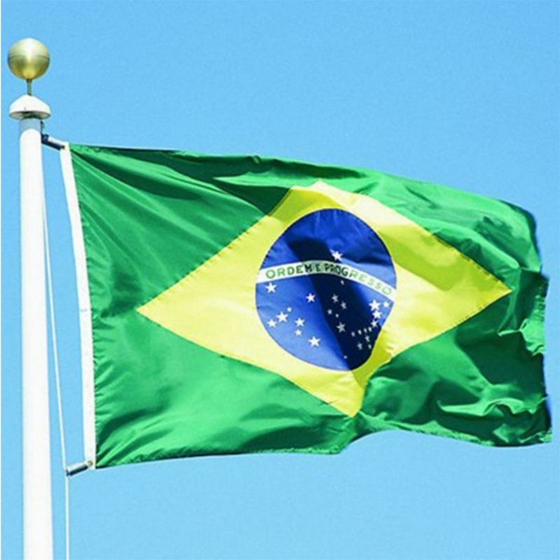 Brazilian Flag Polyester Banner Indoor Outdoor Home Decoration BR Flags #35/3W