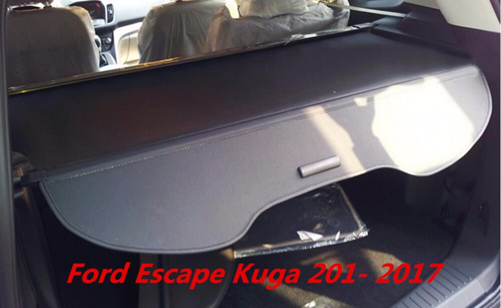 jinghang high quality car rear trunk security shield cargo cover for ford escape kuga 2013 2014. Black Bedroom Furniture Sets. Home Design Ideas