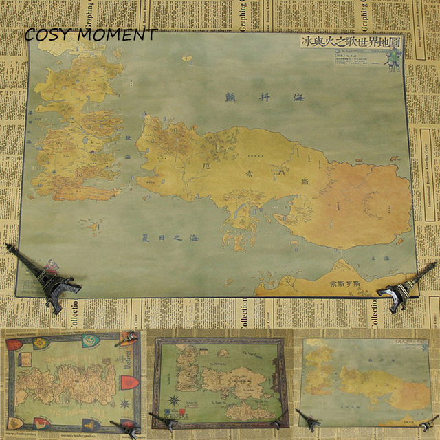 US $1.51 25% OFF COSY MOMENT Game of Thrones World Map Vintage Kraft on blackwater world map poster, game of thrones white poster, skyrim world map poster, game of thrones travel poster, game of thrones art poster, chrono trigger world map poster, game of thrones green poster, map of westeros poster, game of thrones entire map of world, game of thrones motivational poster, game of thrones characters poster,