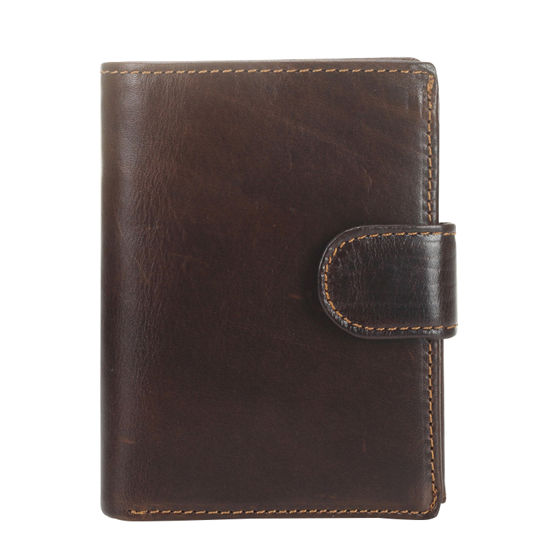 Men Wallets Vintage Genuine Leather Clutch Wallet Male Bifold Short Real Cowhide Hasp Coin Purses Solid ID Credit Card Holder
