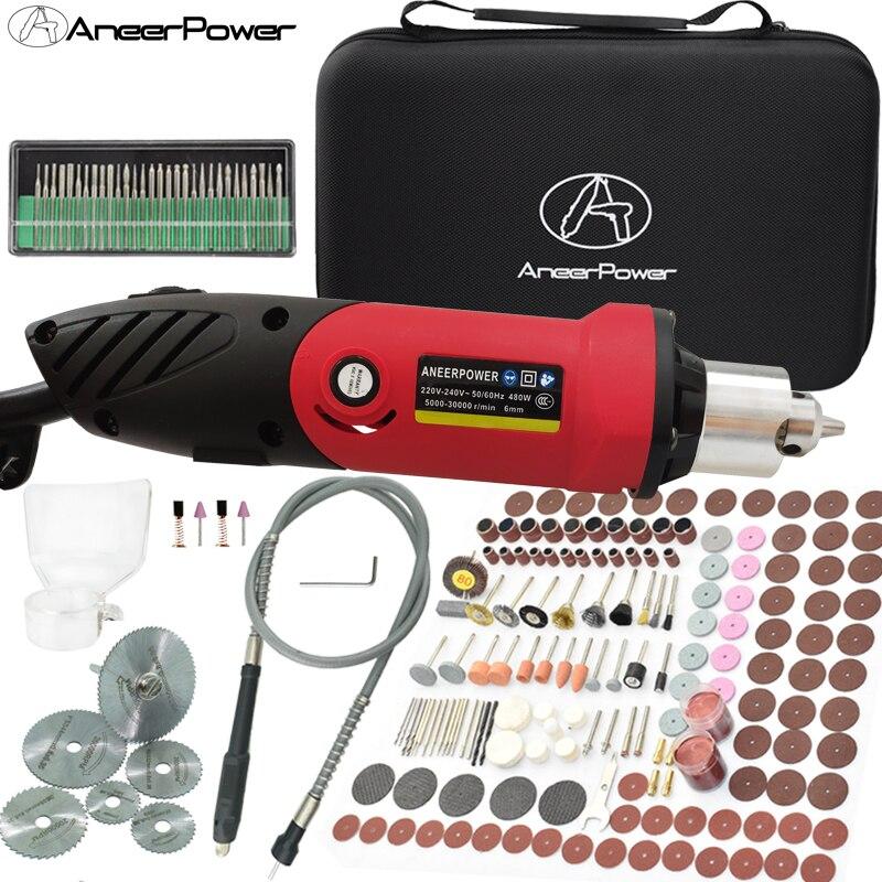 480W Power Tools Electric Grinder Drill Dremel Rotary Mini Engraving Tool Set Cordless Drill Accessories Wireless Machine Bit