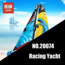 Лепин 20074 техника серии Racing Yacht набор 42074 369 шт. здания Конструкторы кирпичи развивающие игрушечные лошадки модельная лодка подарки для детей