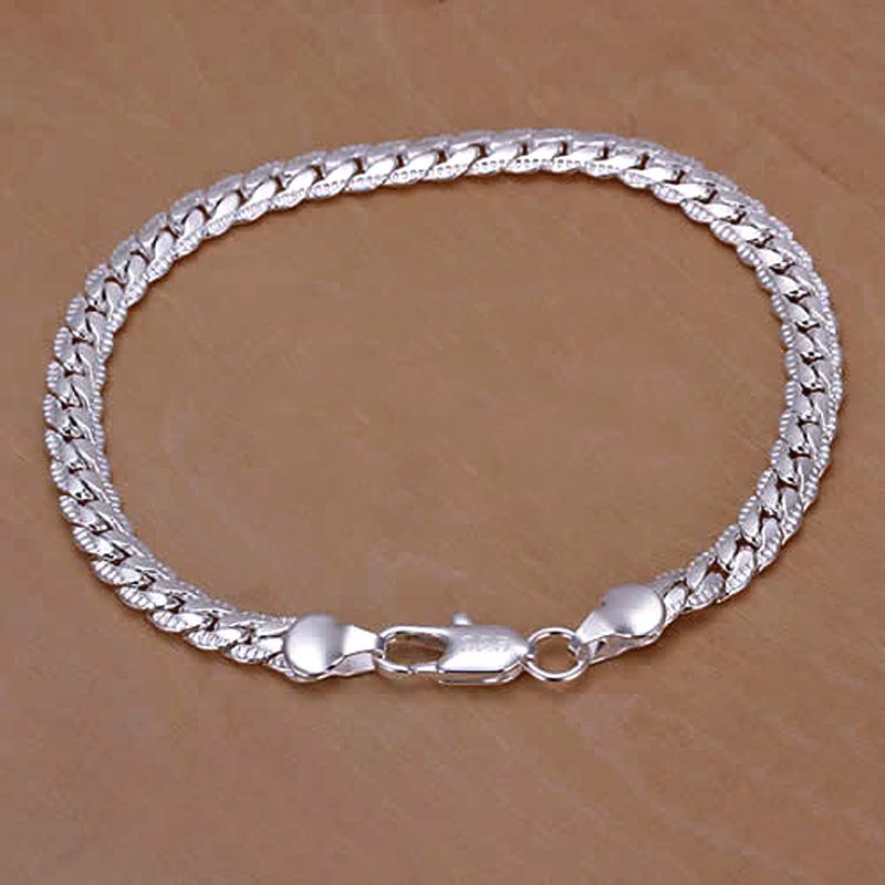 Fashion New Male Silver Chain Bracelet Men Pulsera Rose Gold Bracelet For Women Jewelry Female Accessories Love Gift Bijoux