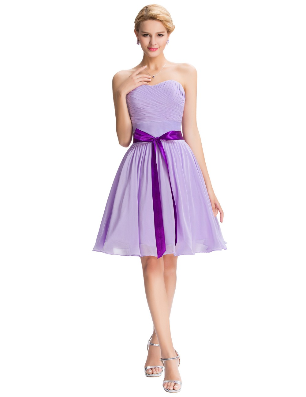 light purple bridesmaid dresses vintage strapless light purple bridesmaid dress 2016 12487