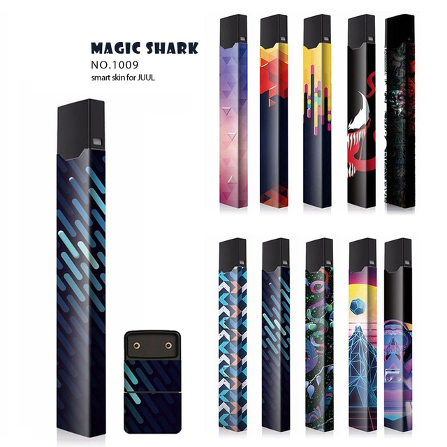 US $1 1 10% OFF|New Sticker Vape Cover Stickers Suitable For Juul 12  Pattern 2 5D Stereo Film Skin 3M Adhesive Printing Label Skin-in Electronic