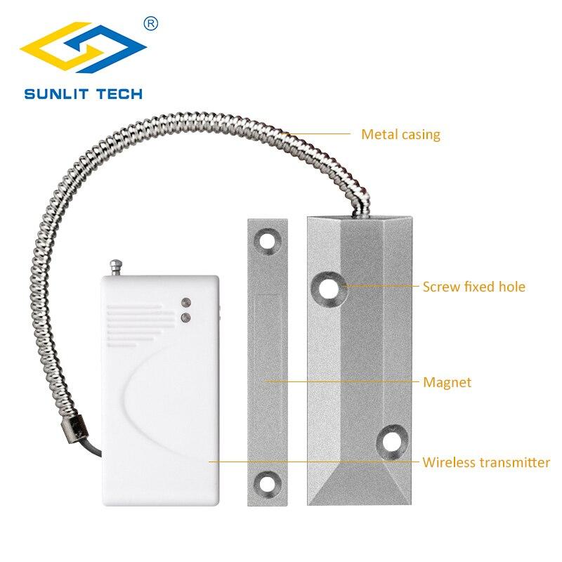 433MHz Senza Fili Porta Finestra Sensore Magnetico a Contatto Interruttore del Rivelatore Kit di Sicurezza per Garage di Allarme Domestico