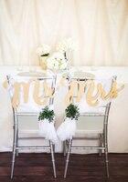 """7 """"alto oro chair segni mr & mrs segni per sedie nozze Per la sposa e lo sposo-hanging chair segni wedding decor-3 pezzo Se"""