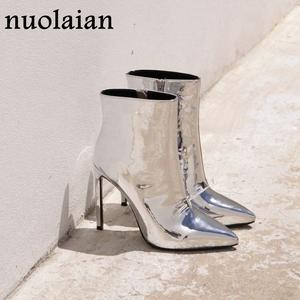 6f3d2895f94 nuolaian Ankle Boots Winter Shoes Female Woman