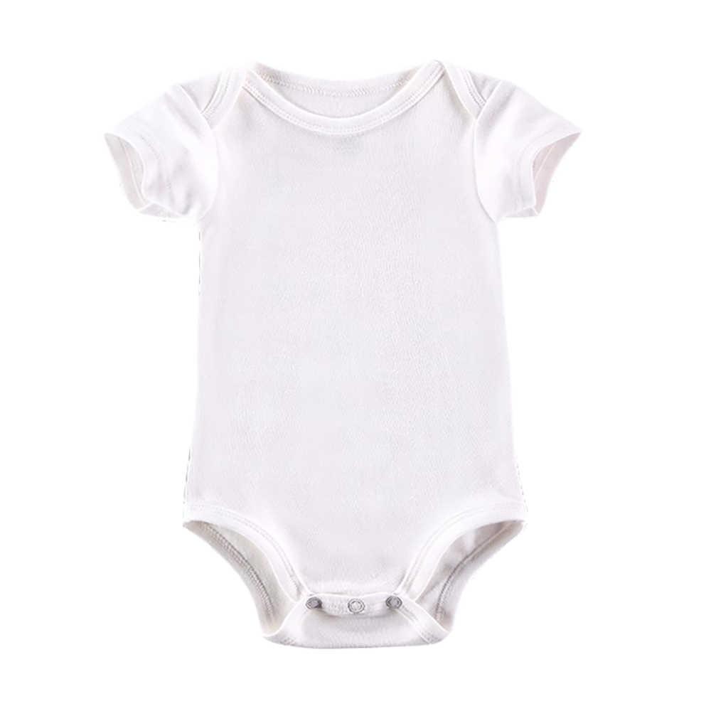 5 ピース/ロットベビーボディスーツ新生児服ボディベベ半袖白夏真新しい幼児ジャンプスーツ女の子の男の子の服